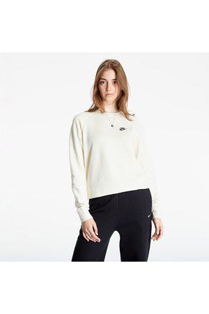 Nike Dames Sweaters - Sportswear Essential Women's Fleece Crew Coconut Milk/ Black