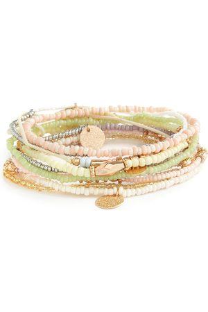 Primark Groene gemixte armbandjes met kralen, 10 st.