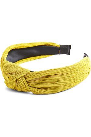 Primark Limoengroene haarband van gerimpelde stof met knoop