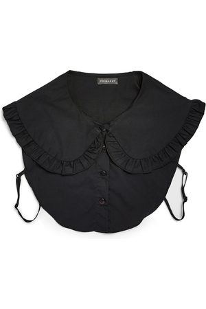 Primark Dames Mutsen - Zwarte overhemdkraag met ruches
