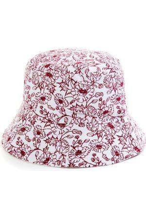 Primark Omkeerbaar hoedje met rode bloemenprint