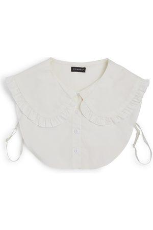 Primark Witte overhemdkraag met smokwerk