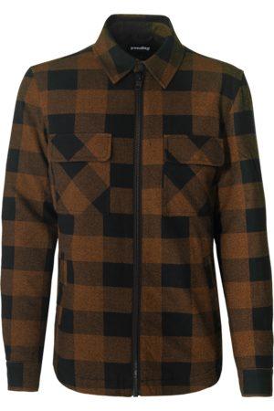 Tigha Heren Shirts - Heren Shirt-jasje Flips (old whiskey/black)