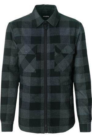 Tigha Heren Shirt-jasje Flips (smoke/black)