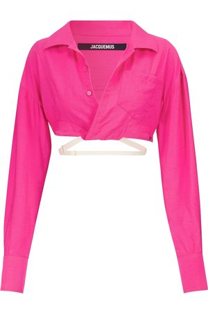 Jacquemus Exclusive to Mytheresa – La Chemise Laurier cropped shirt