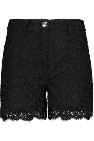 Staud Lena lace cotton shorts