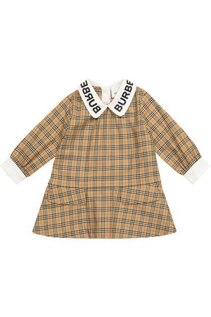 Burberry Baby checked stretch-cotton dress