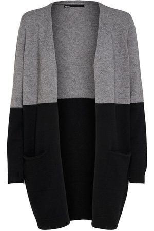 ONLY Long Knitted Cardigan Dames Grijs