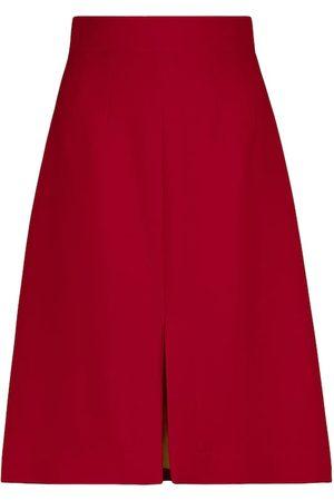 Dolce & Gabbana Wool crêpe midi skirt