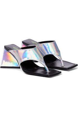 The Attico Devon leather thong sandals