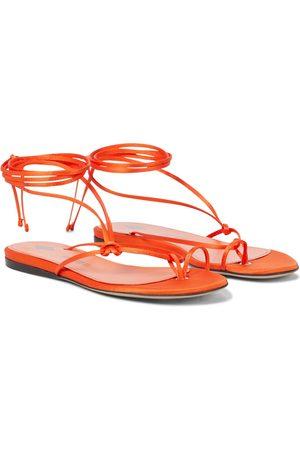 The Attico Dames Strings - Kika satin thong sandals