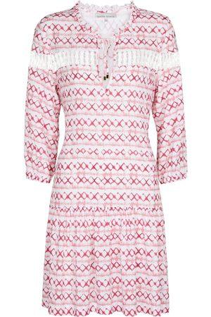 Heidi Klein Dames Geprinte jurken - Penida printed kaftan minidress