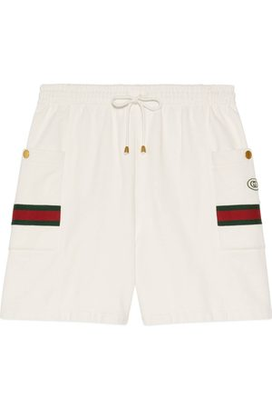 Gucci Jersey jogging shorts with Web