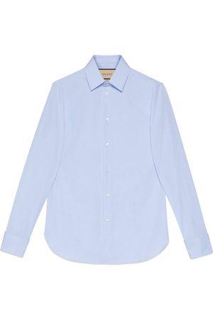 Gucci Cotton poplin Cotton shirt with hidden labelshirt