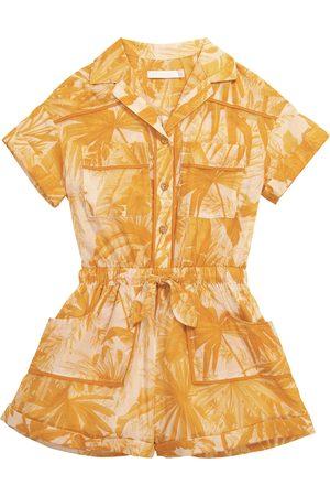 ZIMMERMANN Mae printed cotton playsuit