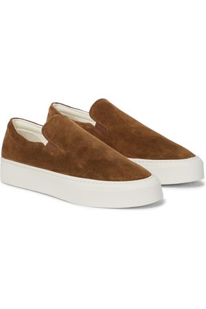 The Row Marie H suede sneakers