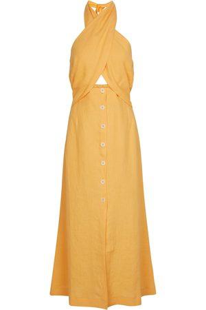 Nanushka Soffio linen midi dress
