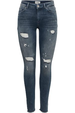 ONLY Dames Skinny - Onlblush Life Mid Ankle Skinny Fit Jeans Dames Blauw
