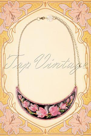 Erstwilder TopVintage exclusive ~ Steel Magnolias Necklace