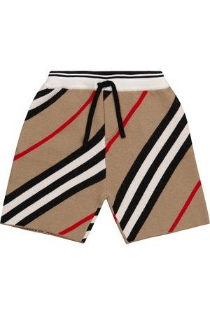 Burberry Icon Stripe wool-blend shorts