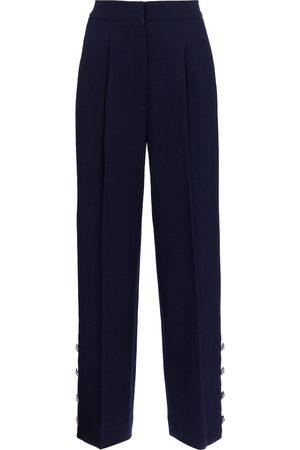 Alessandra Rich Wool-blend crêpe wide-leg pants