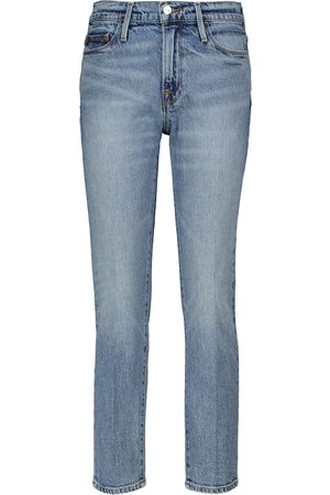 Frame Le Hardy high-rise denim shorts