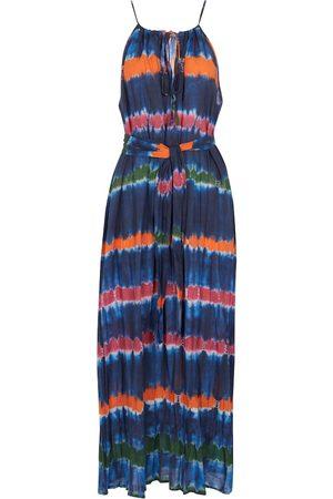 Velvet Valda striped cotton maxi dress