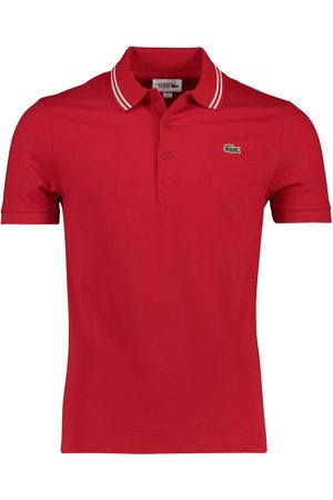 Lacoste Heren Shirts - Rode polo Sport
