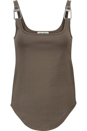 The Attico Dames Tanktops - Buckled cotton tank top