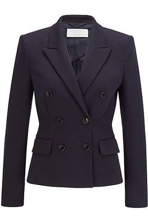 HUGO BOSS Regular-fit double-breasted jacket in stretch fabric