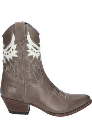 Sendra Dames Cowboy & Bikerboots - 16577 Lia Pirite Bras Sabbia White