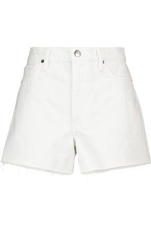 Frame Le Simone high-rise denim shorts