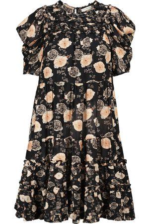 ULLA JOHNSON Dames Geprinte jurken - Cassian floral cotton-blend minidress