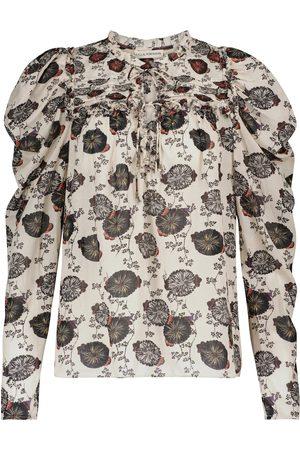 ULLA JOHNSON Bevin floral cotton-blend blouse