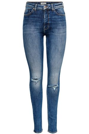 ONLY Onlpaola Life Hw Skinny Fit Jeans Dames Blauw