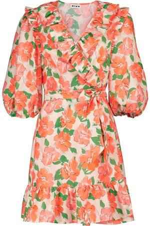 RIXO London Lennon floral cotton and silk minidress