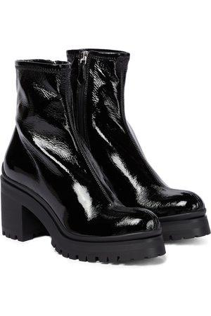 Miu Miu Naplak leather ankle boots