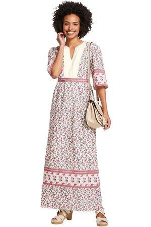 Linea Tesini By Heine Maxi-jurk Gedessineerde jurk