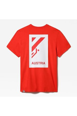 The North Face The North Face International Collection Classic Climb-t-shirt Voor Heren Fiery Red Größe L Heren