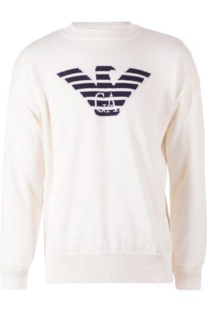Emporio Armani Pullover wit met logo