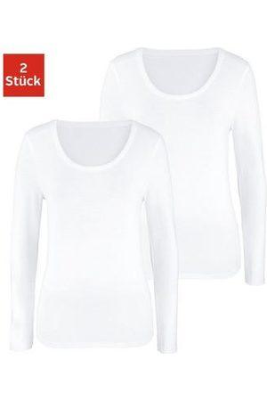 vivance collection Dames Lange mouw - Shirt met lange mouwen (set van 2)
