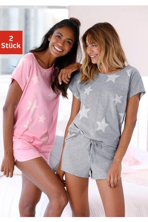 ARIZONA Dames Pyjama's - Shortama (set van 2) in een gemêleerde look