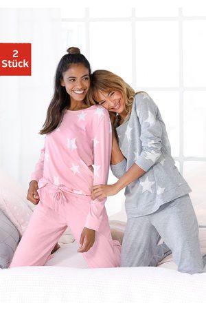 ARIZONA Dames Pyjama's - Pyjama (set van 2) in een gemêleerde look