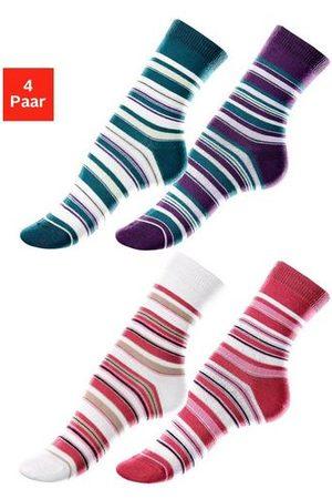 Lavana Dames Panty's & Maillots - Sokken (set van 4 paar) met streepdessin