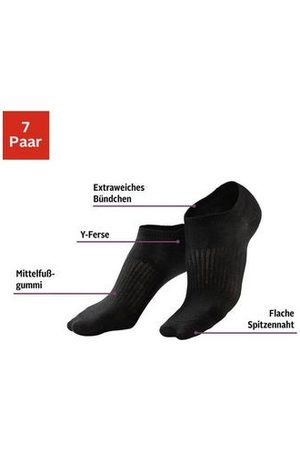 Lascana Active by LASCANA sneakersokken (7 paar)