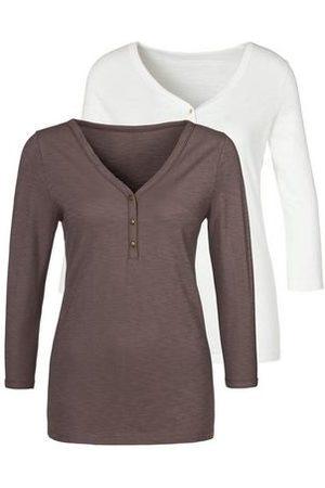 vivance collection Dames Shirts - Shirt met 3/4-mouwen (Set van 2)