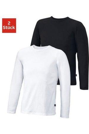 H.I.S Shirt met lange mouwen (set van 2) van katoen