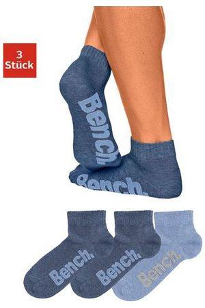 Bench Klassieke korte heren-sokken (3 paar), BENCH, mêleekwaliteit, met prettige ribboord