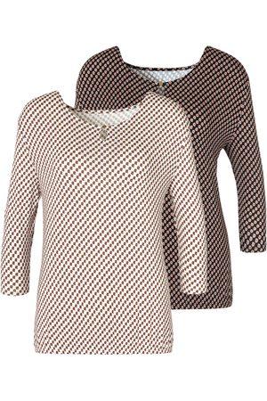 vivance collection Shirt met 3/4-mouwen (Set van 2)