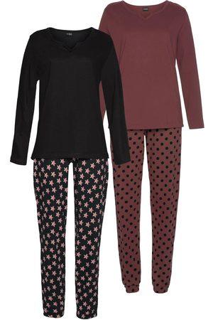 vivance collection Dames Pyjama's - Vivance Dreams pyjama (set van 2, 4-delig)